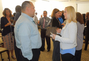 Members and guests networking at Salem Capitol Connections.